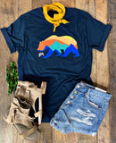 California Bear Tee - Midnight Navy or Pine Green