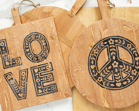 Love & Peace Charcuterie Boards