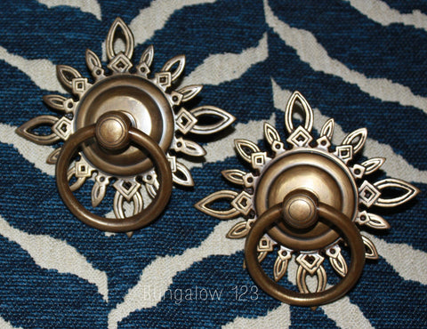 Vintage Brass Ornament Pulls