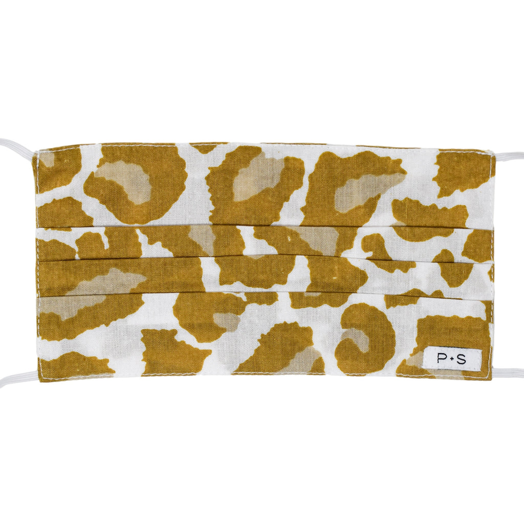 Adult Face Mask - Camel Leopard