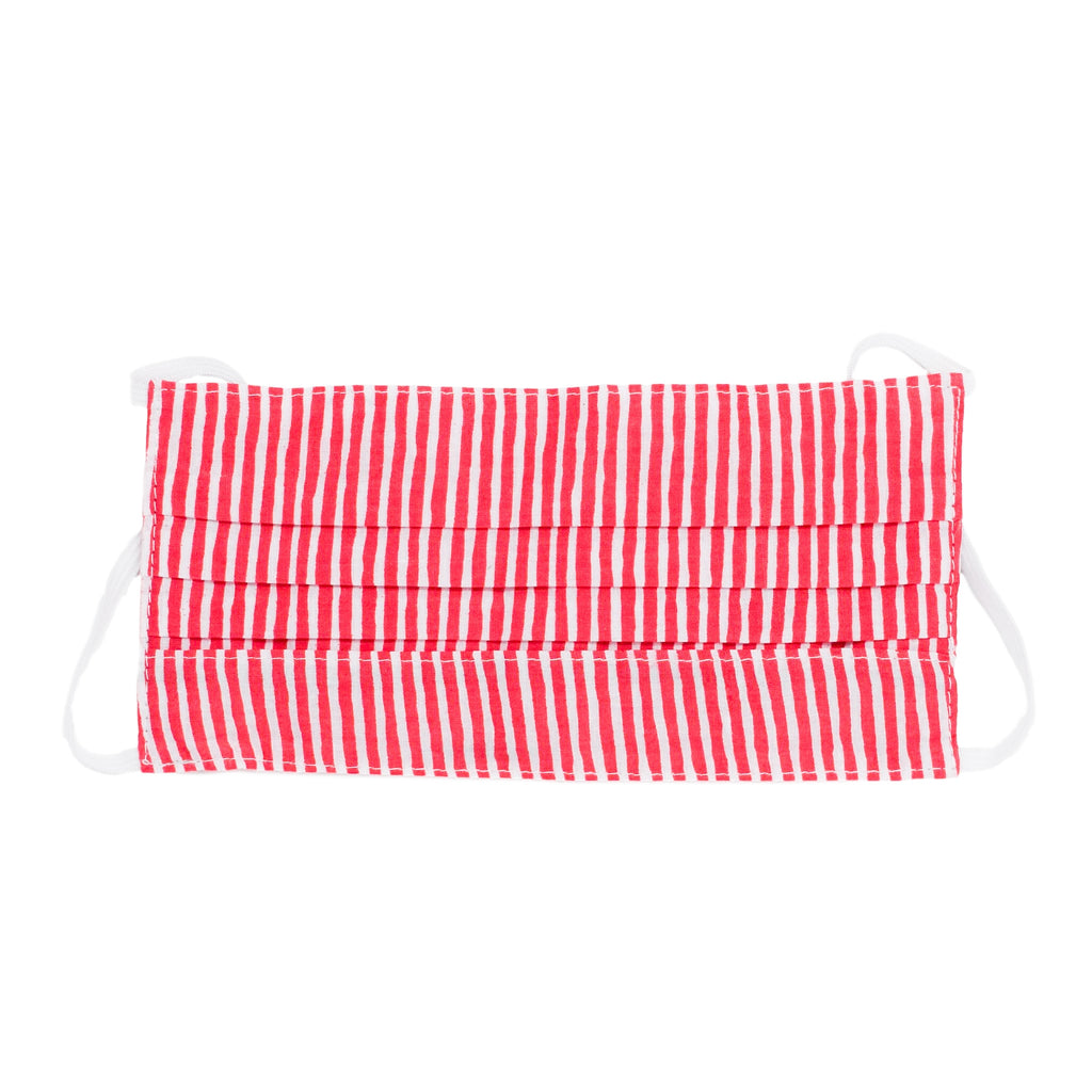Adult Face Mask - Red & White Striped