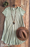 B123 Luxe Bamboo Tunic Dress - Army Green - Bungalow 123 - 1