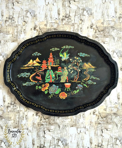Vintage French Provincial Tray