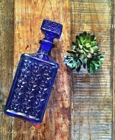 Vintage Blue Decanter