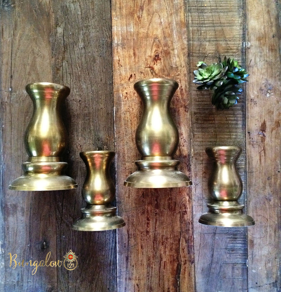 Vintage Brass Candlesticks - Bungalow 123