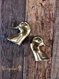 Vintage Brass Duckhead Bookends - Bungalow 123 - 2
