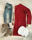 Piko Tunic - Wine Red - Bungalow 123 - 1