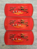 Lot of 4 Vintage Haskelite Trays - Bungalow 123 - 1