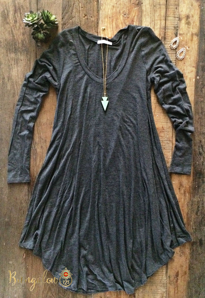 Kodie Dress - Charcoal - Bungalow 123 - 1