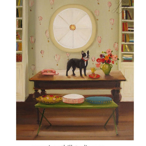 Coco's View From The Top - Janet Hill Studio Art Print