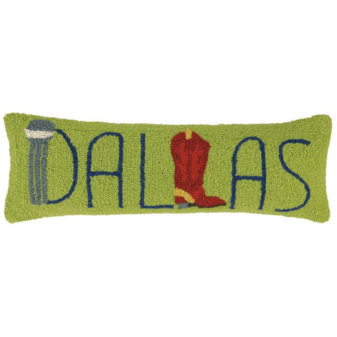 Dallas Red Boot Lumbar Pillow