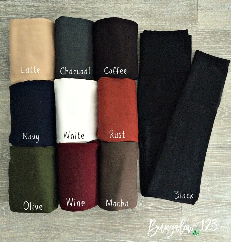 B123 Solid Fleece Ankle Leggings - Bungalow 123 - 1