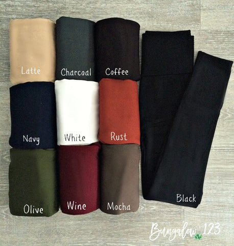 B123 Solid Fleece Ankle Leggings