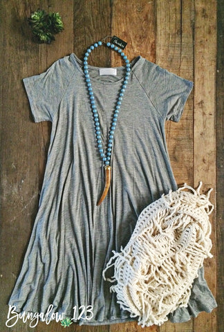 Magnolia Tunic Dress - Heather Gray