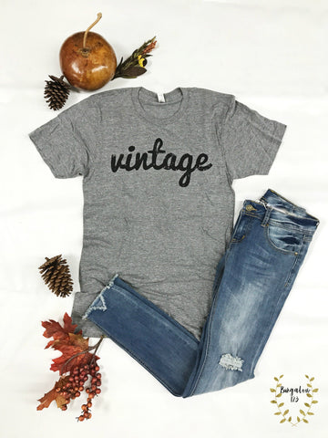 """Vintage"" Tee - Heather Gray"