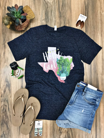 Texas Home Girl Succulent Tee