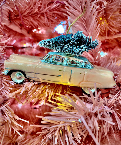 Pink Cadillac Ornament