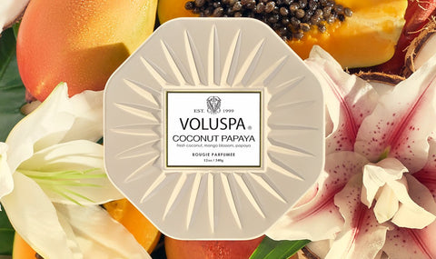 Voluspa Coconut Papaya Candle Collection
