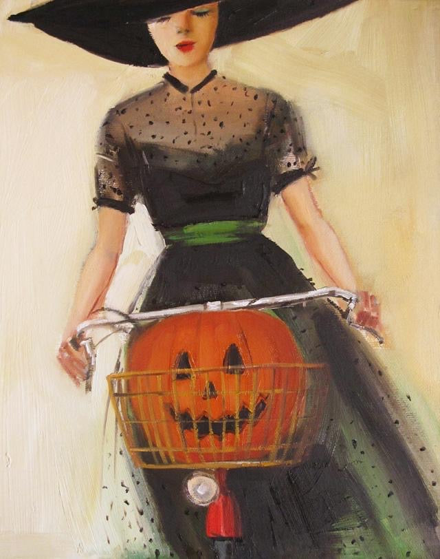 The Witchycle - Janet Hill Studio Art Print