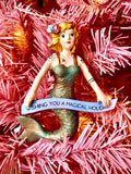Magical Holiday Mermaid Ornament - Assorted