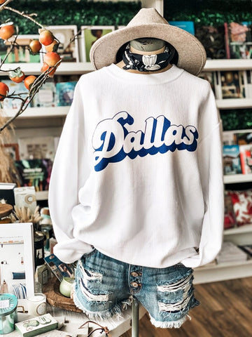 Dallas Cord Sweatshirt