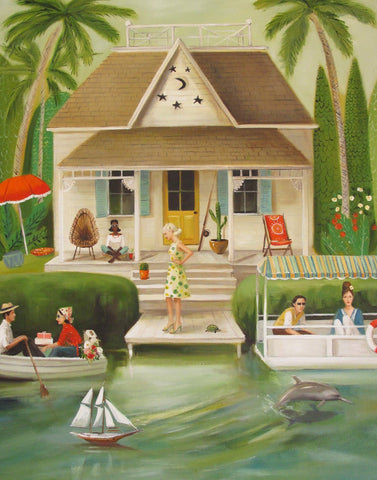 June Everheart's Splendid Summer Home - Janet Hill Studio Art Print