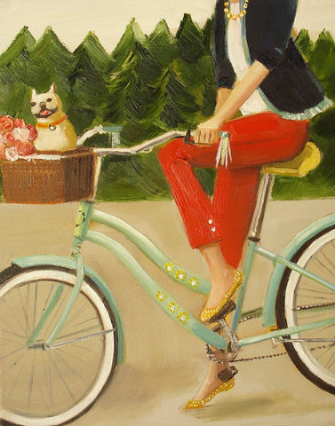 Francine and her Frenchie - Janet Hill Studio Art Print