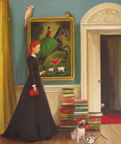 Miss Moon Was a Dog Governess : Lesson Three - Janet Hill Studio Art Print