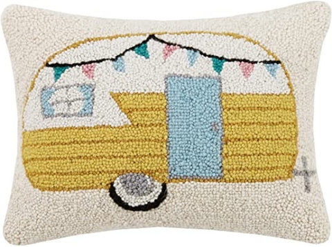 Happy Camper Needlepoint Pillow