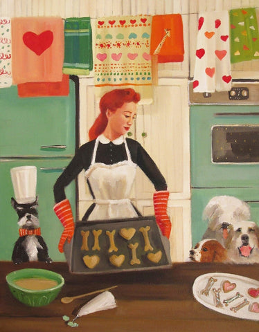 Miss Moon Was a Dog Governess : Lesson Fifteen - Janet Hill Studio Art Print