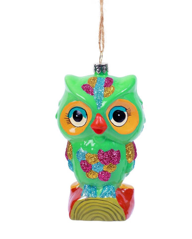 Retro Owl Ornament - Assorted