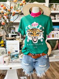 Bungalow 123 Green Tiger Tee