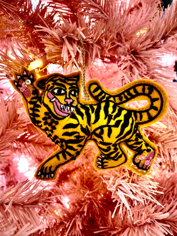 Prancing Tiger Ornament