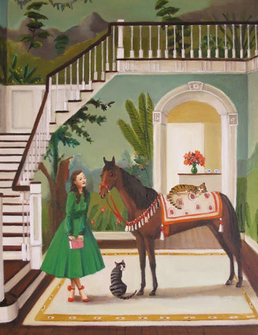 "A House Horse Called Rousseau 11""x14"" - Janet Hill Studio Art Print"