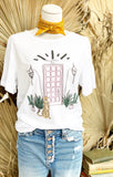 Bungalow 123 Pink Door Tee
