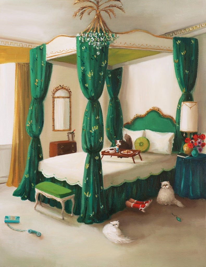 Audrey's Under the Bed Again - Janet Hill Studio Art Print