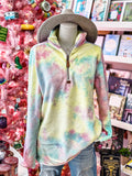 Holiday Promo Tie-Dye Zip-Up Pullover