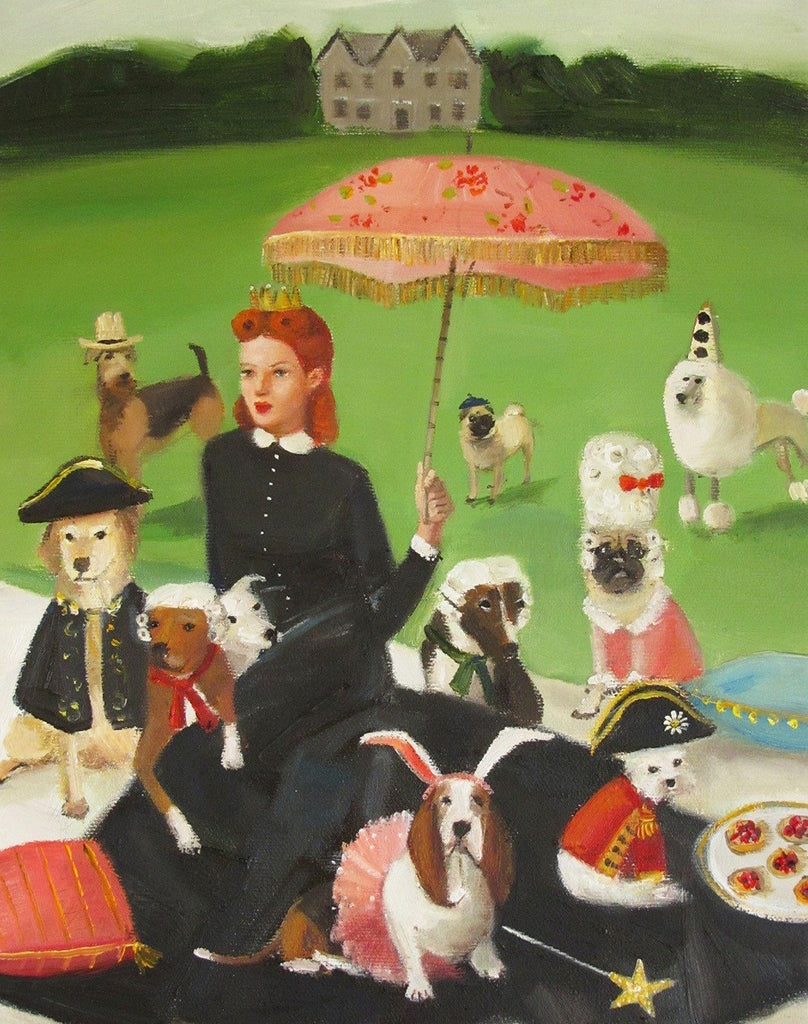 Miss Moon Was a Dog Governess : Lesson Eight - Janet Hill Studio Art Print