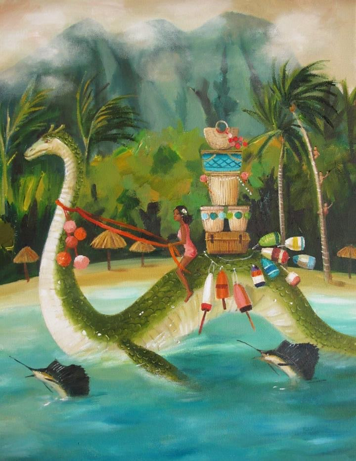 South Seas Serpent - Janet Hill Studio Art Print
