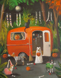 The Dogs of Halloween - Janet Hill Studio Art Print