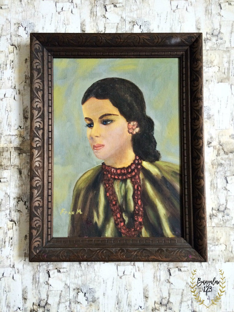 Vintage Lady Oil Painting - Bungalow 123 - 1