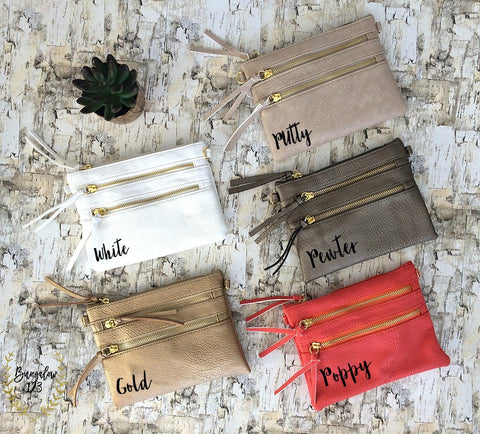 Zippered Crossbody/Clutch