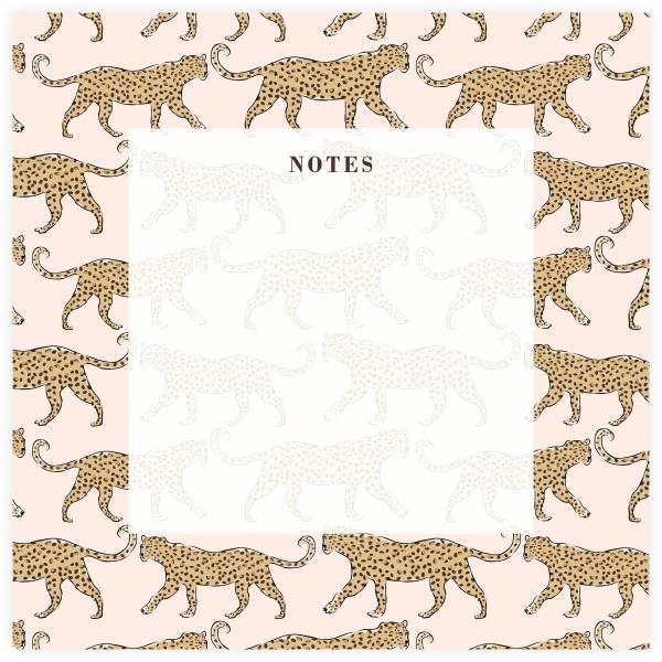 CB Blush Leopard Notepad