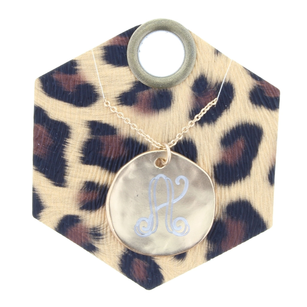 JM Brushed Monogram Necklace
