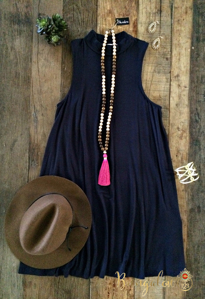 Owen Dress - Navy - Bungalow 123 - 1