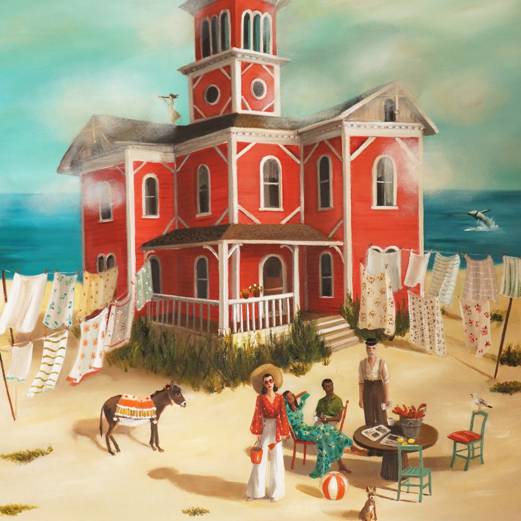 "The Lighthouse at Folly Bay 11""x13""- Janet Hill Art Print"