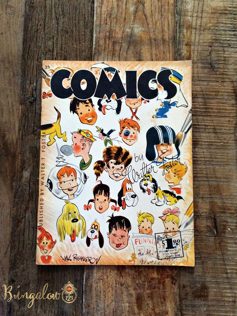"Vintage ""How to Draw Comics"" Book by Walter Foster - Bungalow 123 - 1"