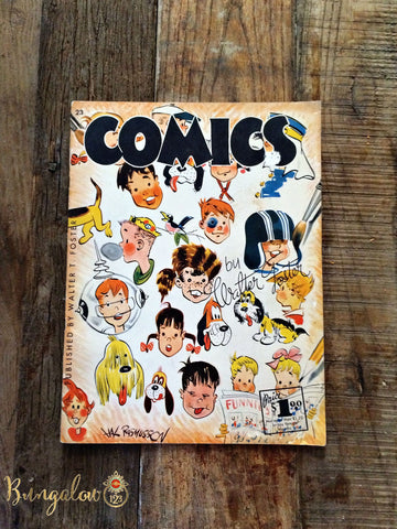 "Vintage ""How to Draw Comics"" Book by Walter Foster"