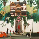 Who Lives In That House High Above the Sunset Strip? - Janet Hill Art Print
