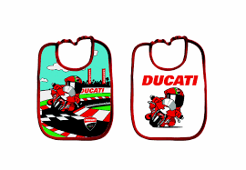 Ducati Corse Cartoon Baby Bib